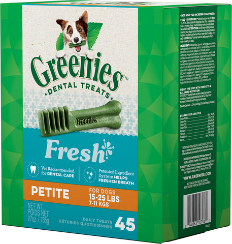 Greenies Petite Dog Mint Treats (45 Count)