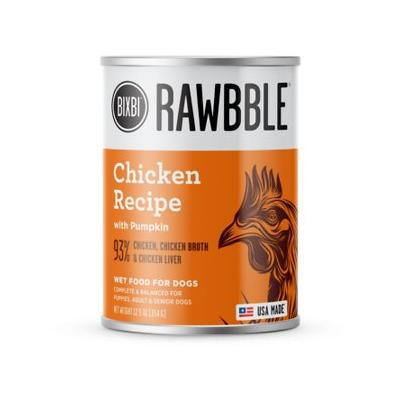 Rawbble Dog Food - Chicken Recipe (12.5oz Can)