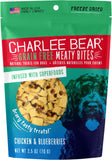 Charlee Bear GF Dog Treats - Meaty Bites (2.5oz)