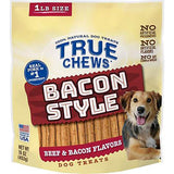 True Chews Dog Treats - Bacon Style (16oz)