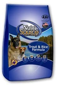 Nutrisource Dog Trout & Brown Rice 30#