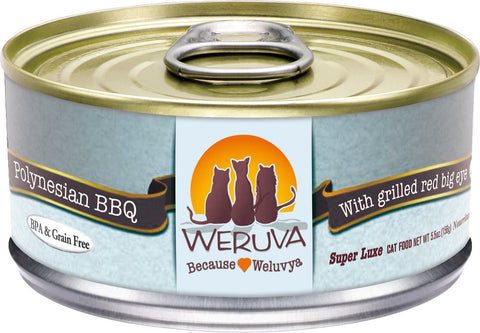 Weruva Polynesian BBQ 5.5oz Cat Can