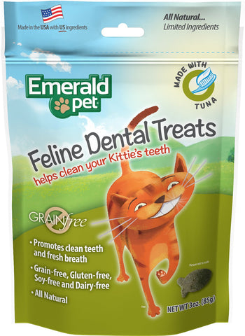 Emerald Pet - Feline Dental Treats (3oz)