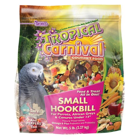 Brown's Tropical Carnival Small Hookbill 5#