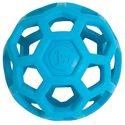 JW Hole-ee Roller - Natural Durable Rubber Toy