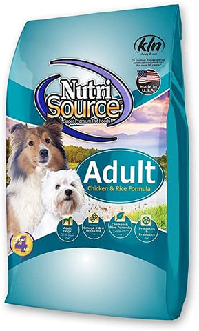 Nutrisource Adult Chicken/Rice K9 30#