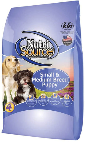 Nutrisource Dog Small/Med Chicken & Rice Puppy 30#