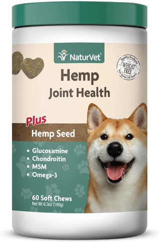 NaturVet Hemp Joint Hlth Chew 60 ct
