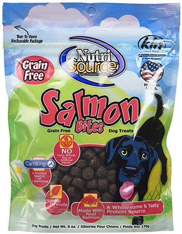 Nutrisource Grain Free Salmon Bites 6oz