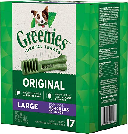 Greenies Treats For Large Dogs (17 Pack)