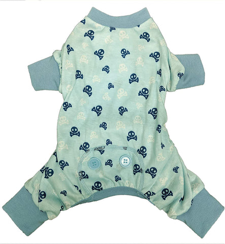 Fashion Pet Skull N Cross Bone PJ (Blue)
