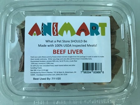 Animart Treats - Beef Liver (5oz)