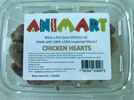 Animart Chicken Hearts (3.5oz)