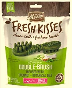 Merrick Fresh Kisses Double Brush - Mint (Small Dog)