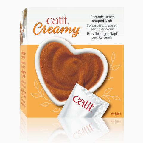 Catit Creamy - Ceramic Heart-Shaped Dish!