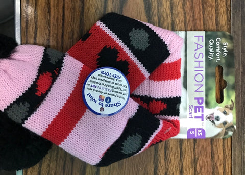 Valentine Fashion Pet - Scarf (X-Small & Small)