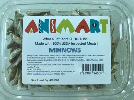 Animart Treats - Minnows (2oz)