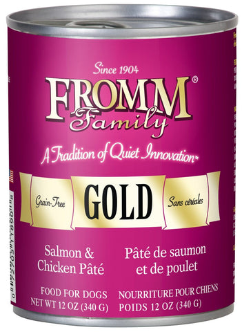 Fromm Salmon & Chicken Pate Gold Dog 12oz Can