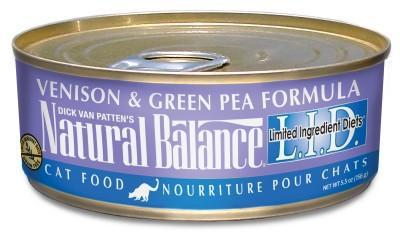 Natural Balance Cat Can - Venison & GP 6oz