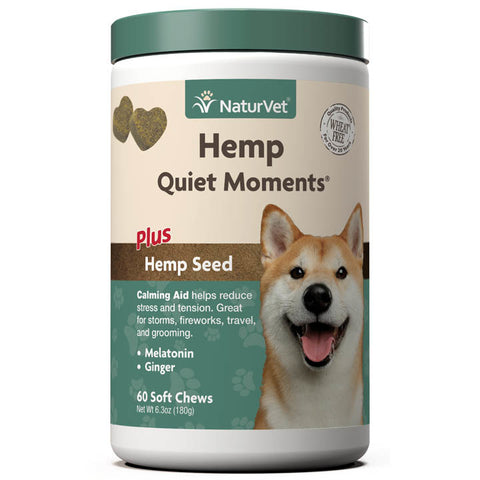 NaturVet K9 Hemp Quiet Moments Soft Chew 60ct