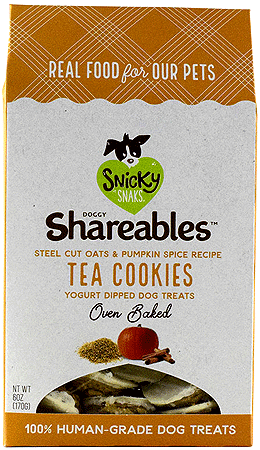 Snicky Snak Doggy Shareables: Oats & Pumpkin Spice Cookies (6oz)