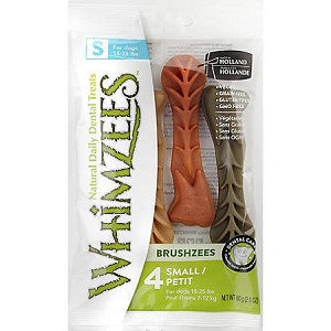 Whimzees Brushzees (4 pack) - Small Size