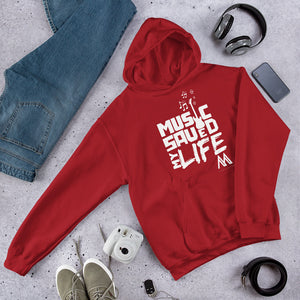 Music Saved My Life Hoodie-Red
