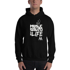 Hoodie Music Saved My Life - Black