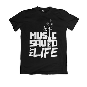 Music Saved My Life - Black