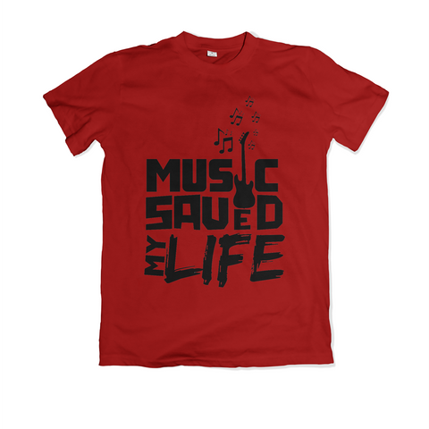 Music Saved My Life - Red & Black
