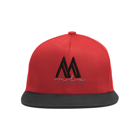 "RED/BLK MLA ""Signature"" SnapBack"