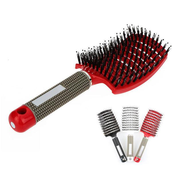 Detangling Bristle & Nylon Hairbrush-Scalp Massage Comb, Promotes Hair Growth - Kateyspicks
