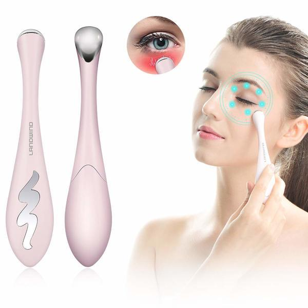 Heated Anti-Ageing Ionic Eye & Face Massager-Dark Circle Remover - Kateyspicks