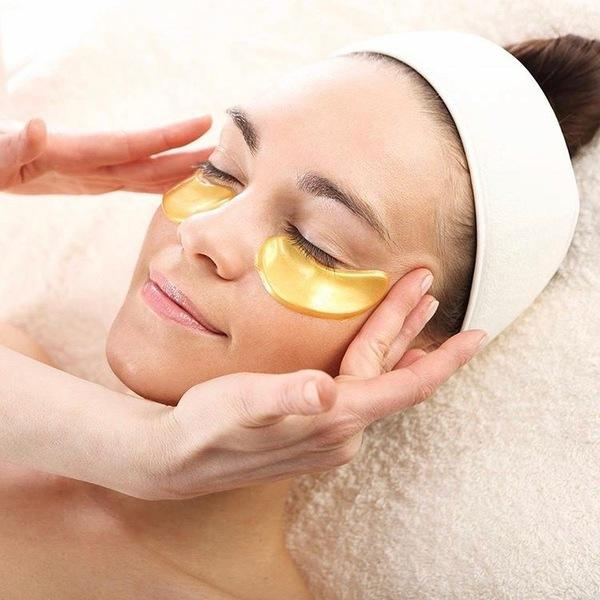 10 Pcs Gold Eye Masks Power Crystal Gel Collagen Eye Masks - Kateyspicks