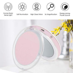 LED Compact Size Cosmetic Mirror USB Rechargeable - Kateyspicks