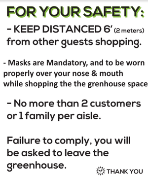 Update regarding Covid Measures for in-store shopping