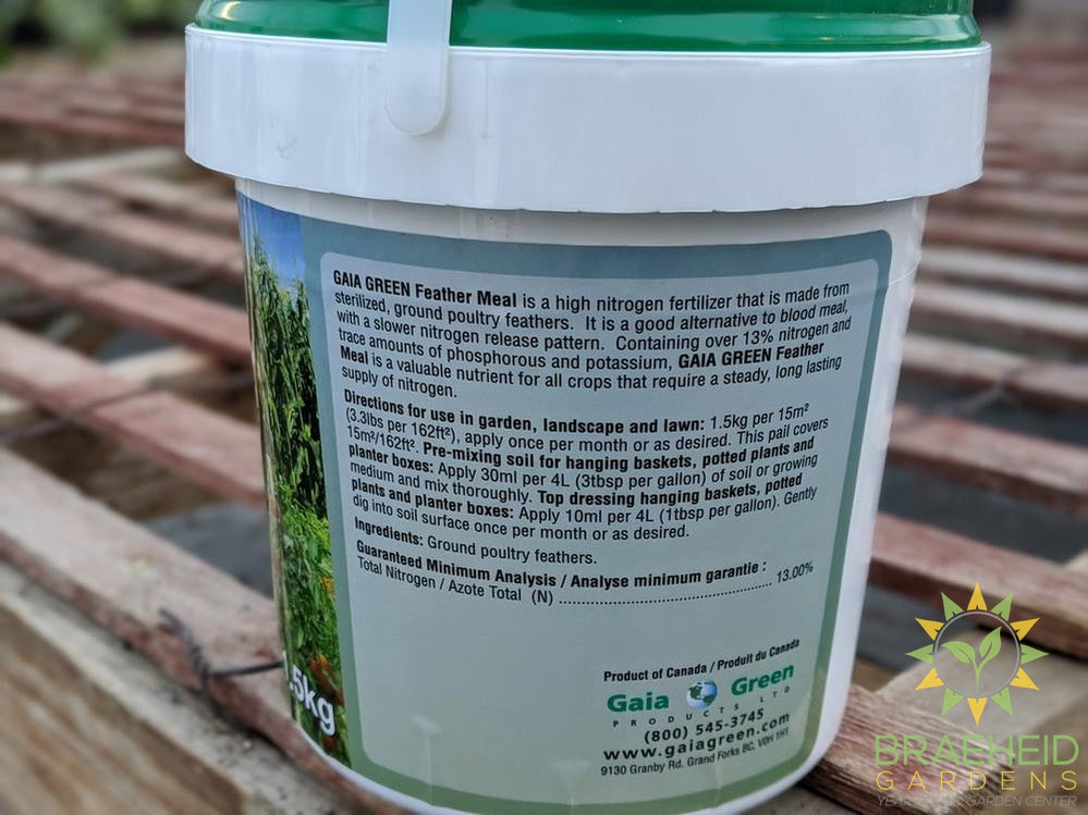 About gaia green feather meal fertilizer