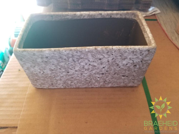 Light Grey spot ceramic Planter