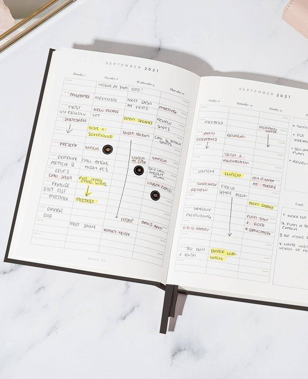2021 Diary Goals - CGD LONDON