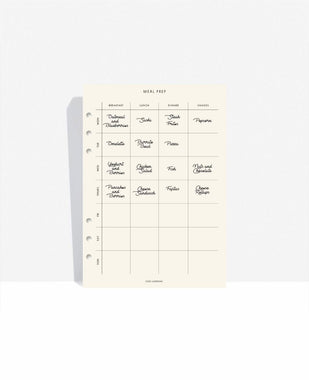 Meal-Plan Agenda Inserts - CGD LONDON ?id=16563970637847