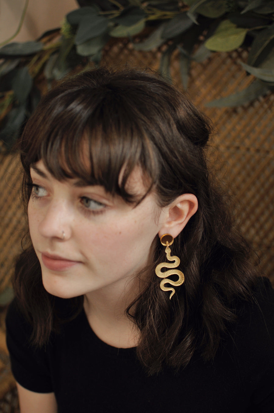 Lucite Snake Earrings