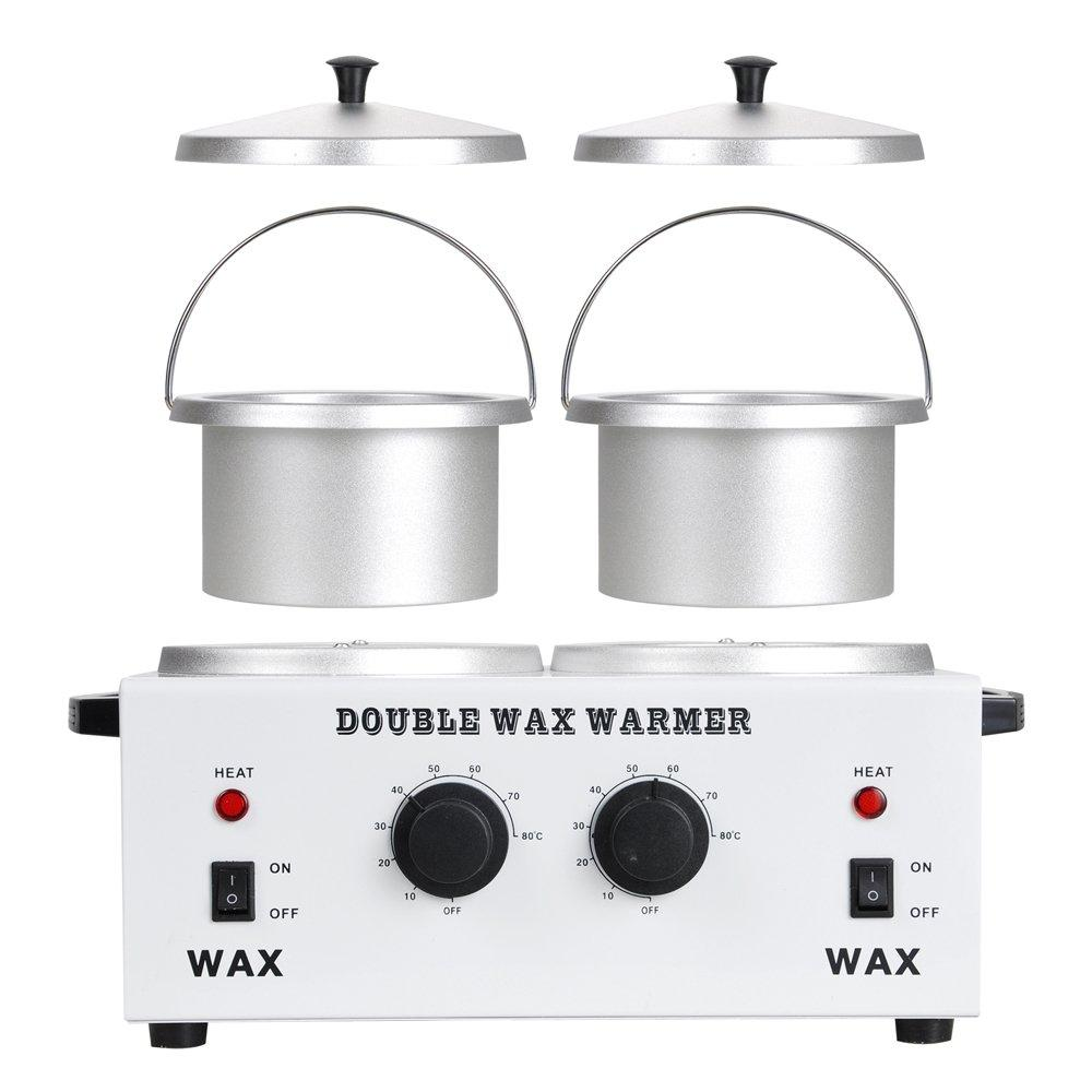 Professional Double Pot Adjustable Wax Warmer | HUINI | SHSalons.com