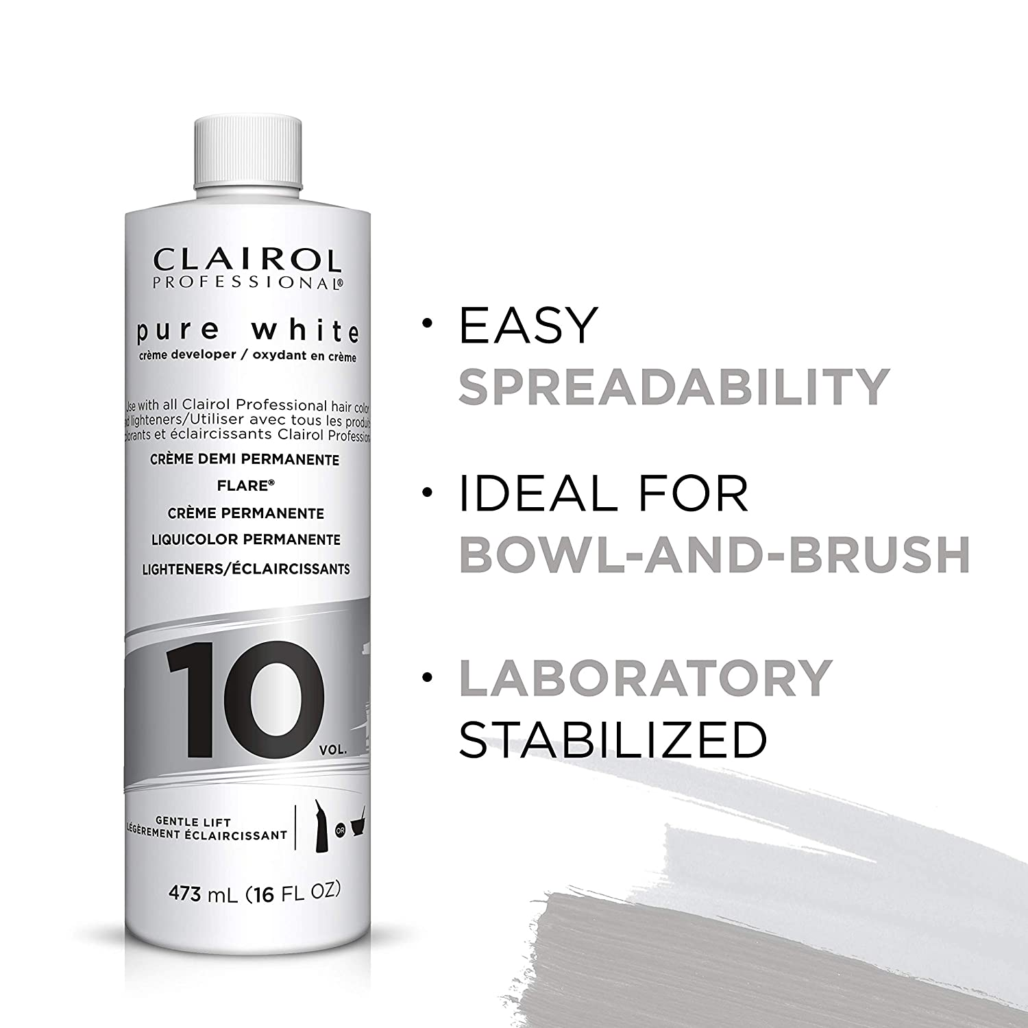 10 Volume Developer | Pure White Creme | CLAIROL PROFESSIONAL | SHSalons.com
