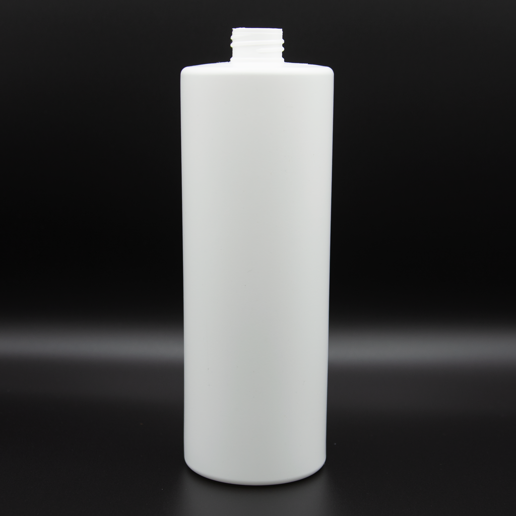 Liter | White Bottle | Neck Size 28/410 | Cylinder (120 PCS per Case) | SSW | SHSalons.com