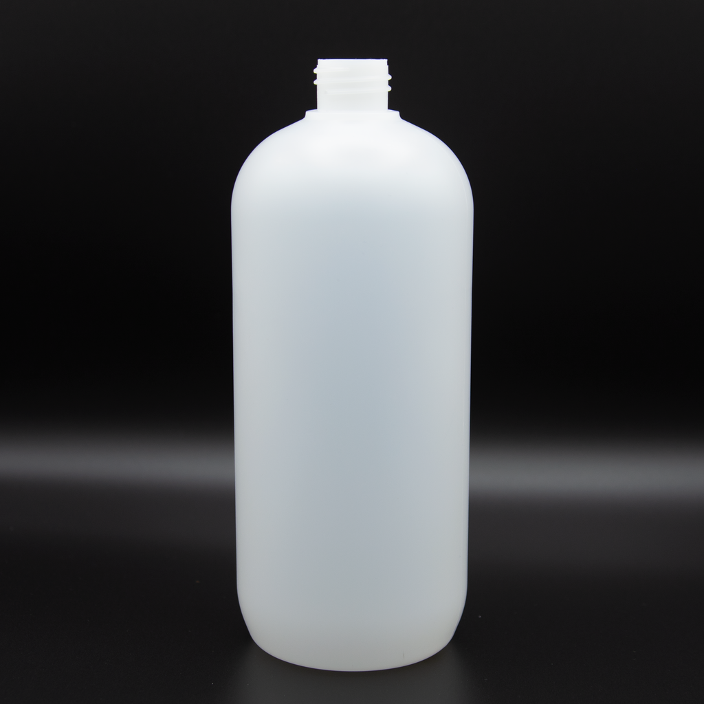 Liter | Natural Bottle | Neck Size 24/410 | HDPE Boston Round (72 PCS per Case) | SSW | SHSalons.com