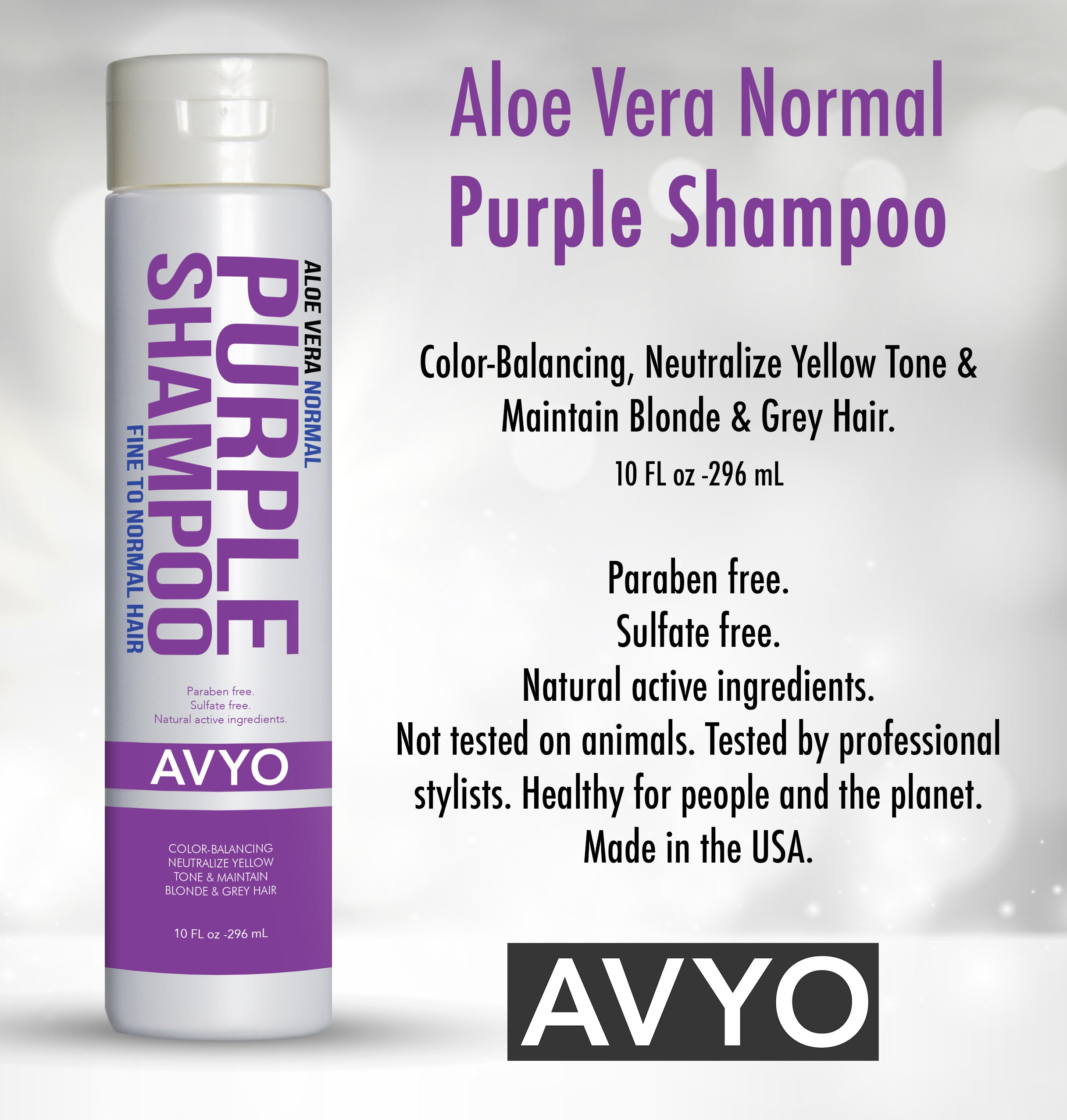 Aloe Vera Normal Purple Shampoo | AVYO | AVYO | SHSalons.com