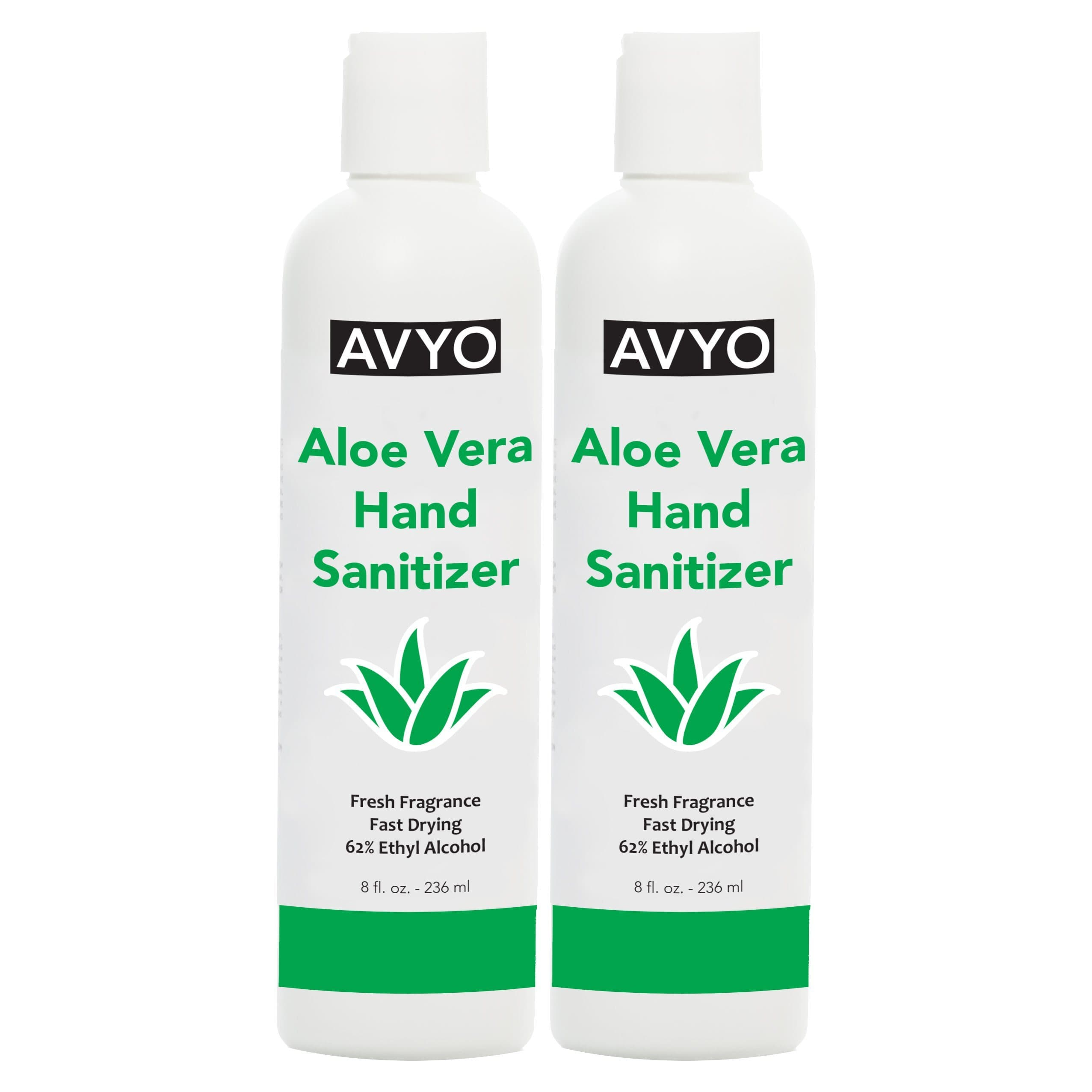 Aloe Vera Hand Sanitizer | Ethyl Alcohol 62% | Gel | Made in USA [ FDA Registered ] | AVYO | SHSalons.com