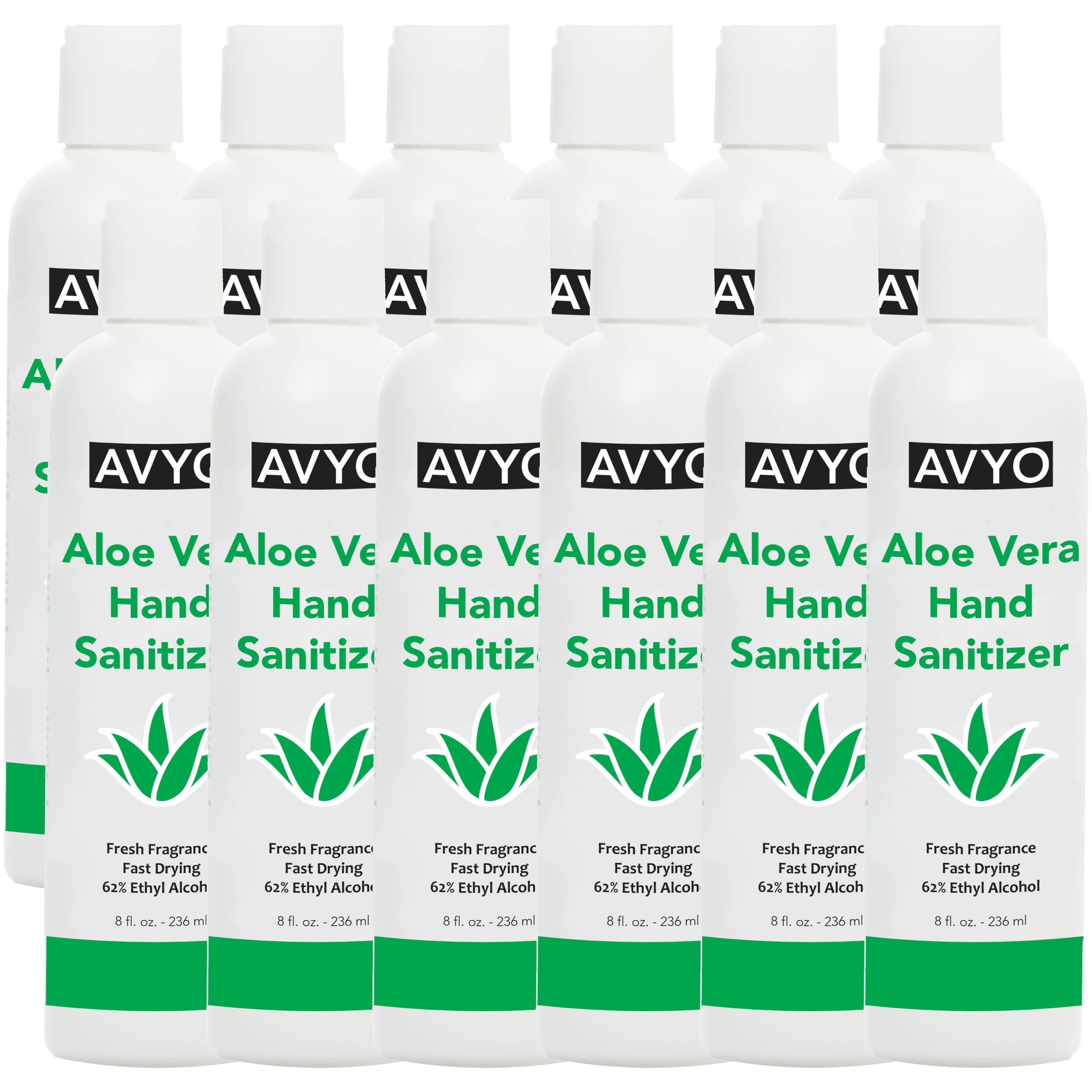 Aloe Vera Hand Sanitizer | Ethyl Alcohol 62% | Gel | Made in USA [ FDA Registered ] - SH Salons