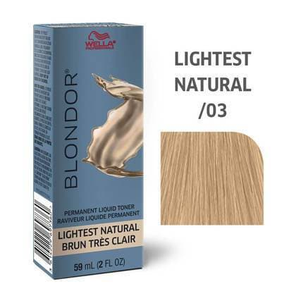 Blondor Permanent Liquid Hair Toner /03 Lightest Natural HAIR COLOR WELLA PROFESSIONAL
