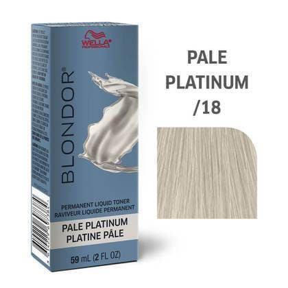 Blondor Permanent Liquid Hair Toner /18 Pale Platinum | WELLA PROFESSIONAL | SHSalons.com